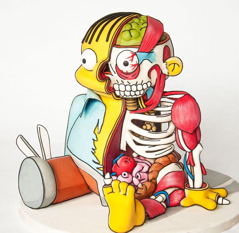 Anatomical Cartoon Cakes