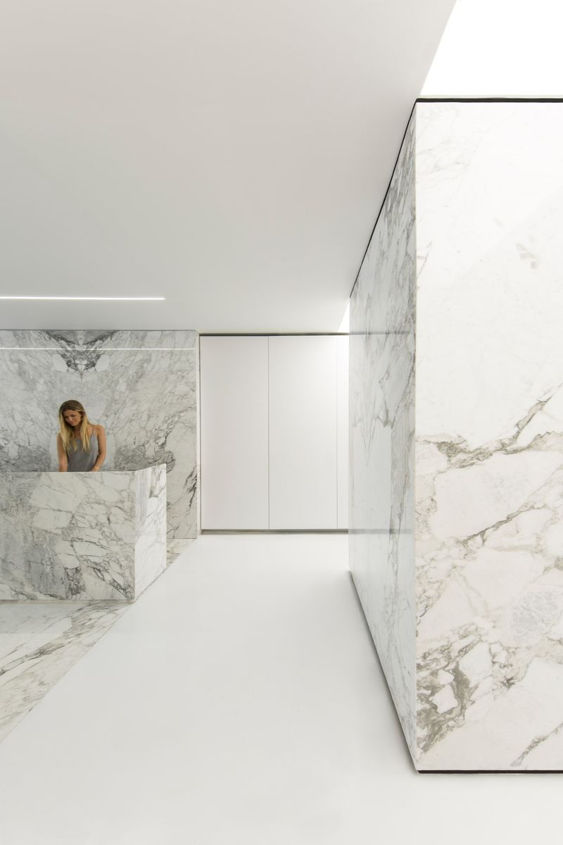 Marble-Covered Exhibition Spaces