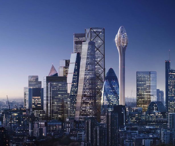 Blooming Metropolis Skyscrapers