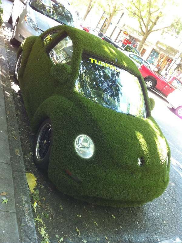 Lawn-Covered Cars