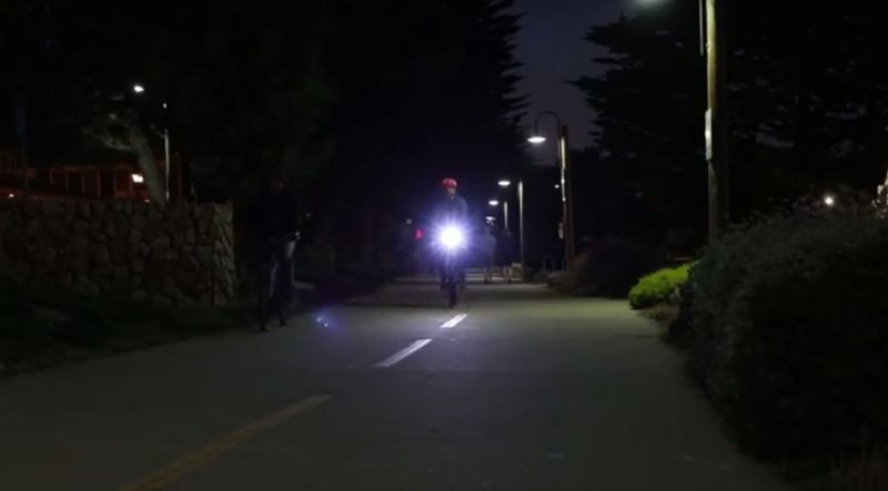 Motion-Detecting Bike Lights