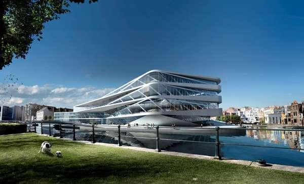 Futuristic Eco Libraries