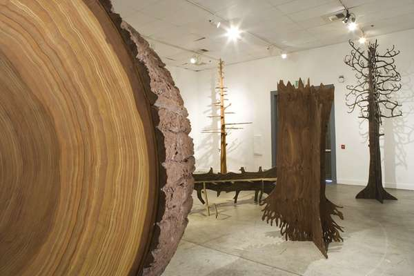 Faux Forest Exhibits The Wood Art Installation