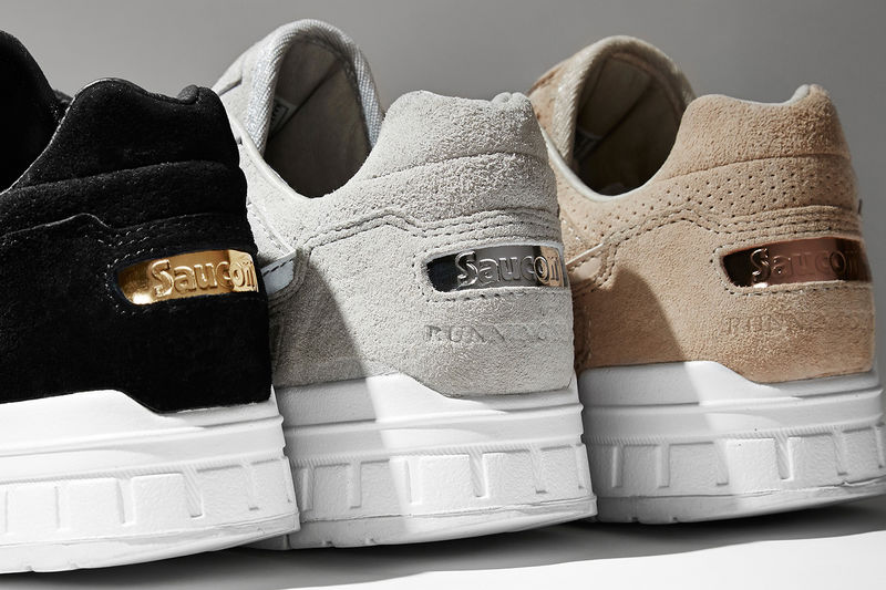 Suede Medal-Themed Sneakers