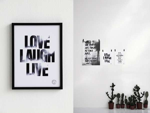 Typographic Motivational Prints
