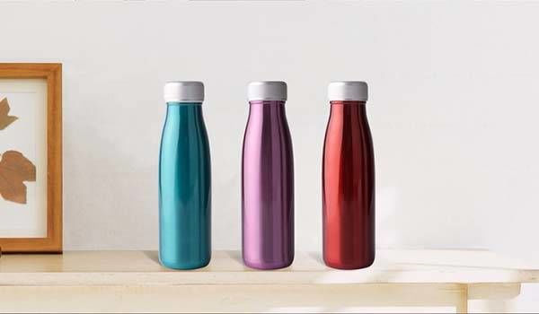 Metallic Hydration-Tracking Bottles