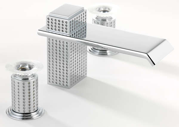 Droplet-Engraved Bathroom Fittings