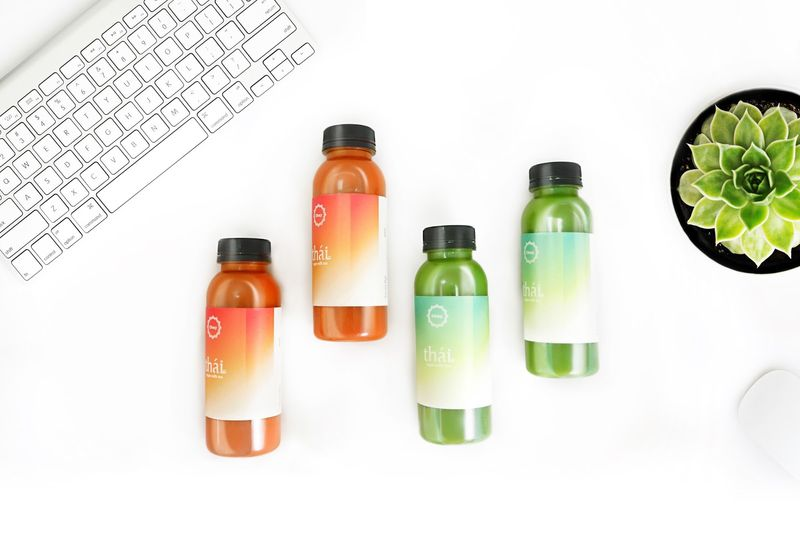Gradient Cold Tea Packaging