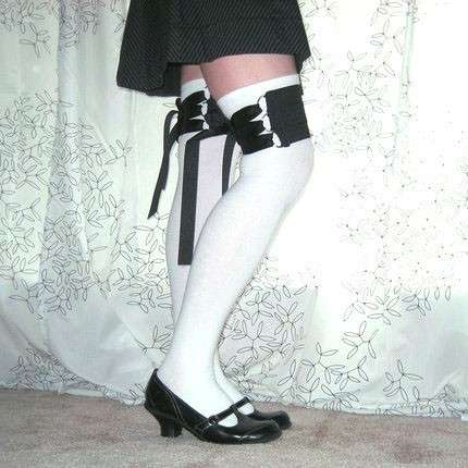 Thigh Corsets: TheSockGirl's Sock Garters Channel Victorian