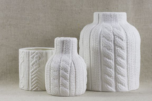 Crocheted Ceramic Decor