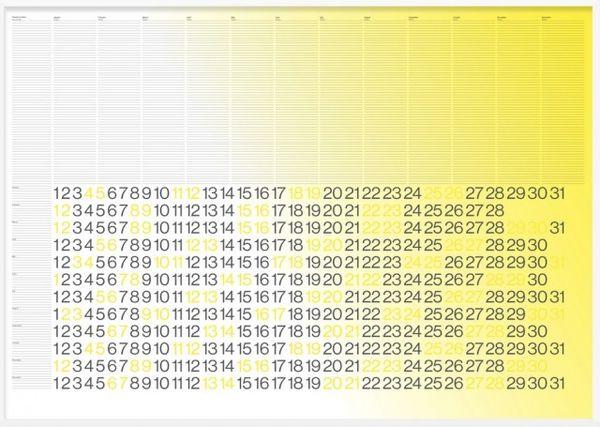 Simplistic Gradient Calendars
