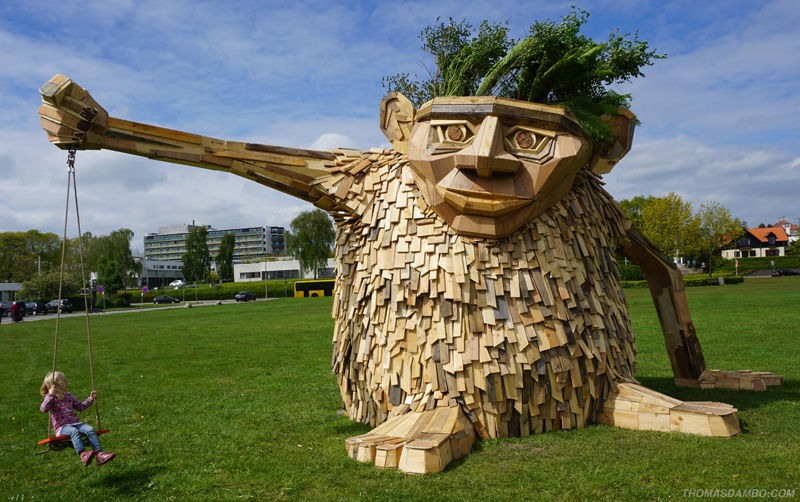 Trollish Wood Sculptures