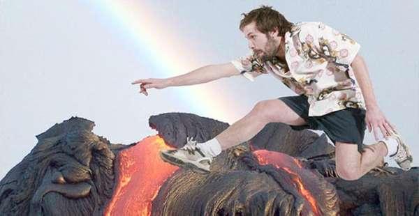Superimposed Volcano Photos