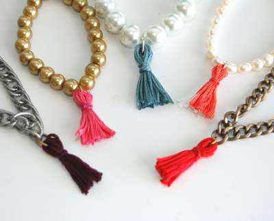 DIY Beaded Tassel Bracelets