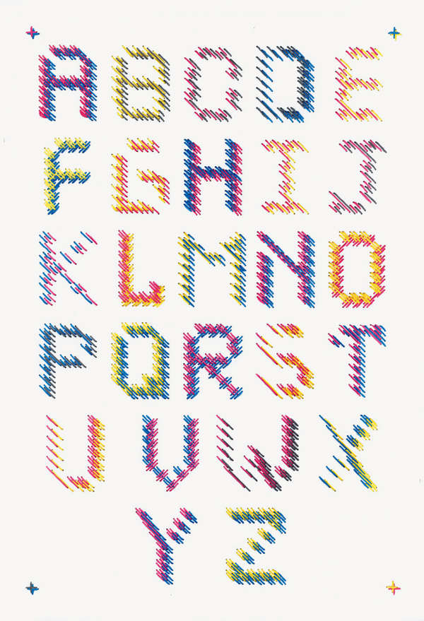 Intricately Threaded Typography
