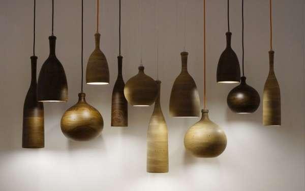 Wooden Bottle-Like Lighting