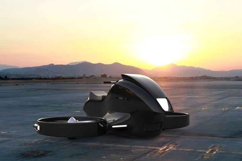Futuristic Hovering Motorcycles