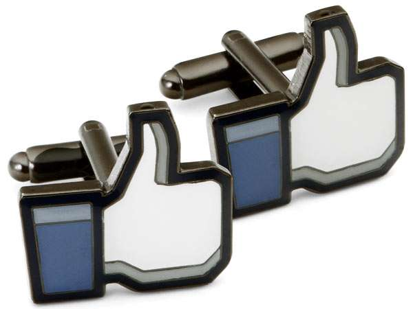 Facebook-Inspired Cuff Links
