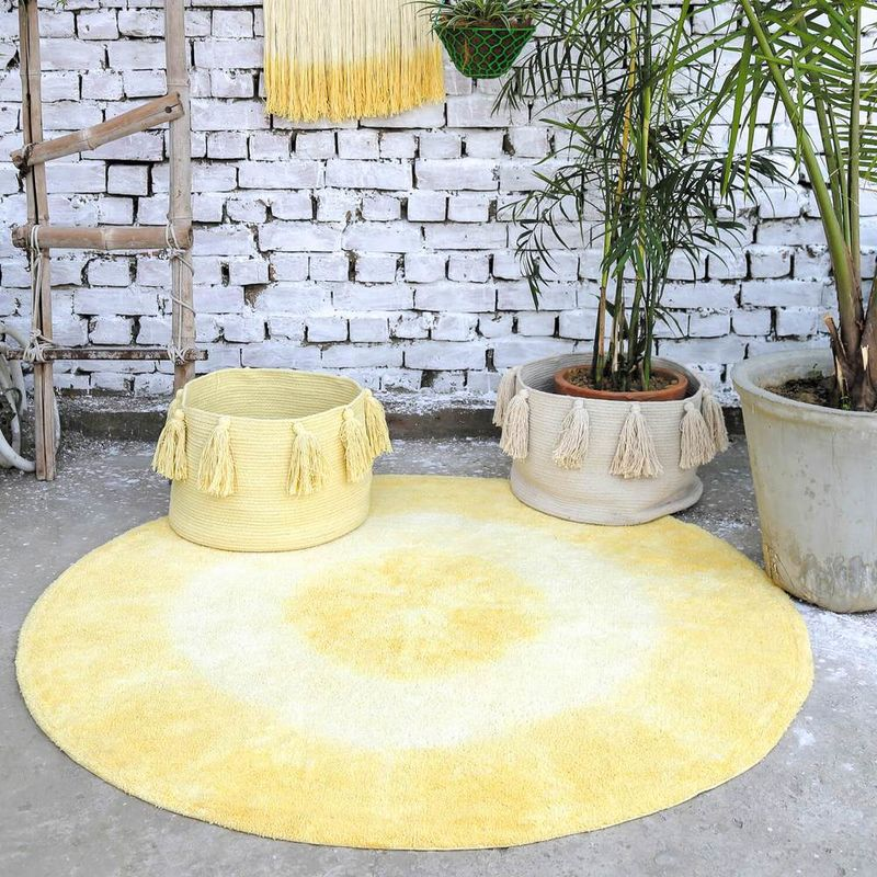 Vibrant Washable Yellow Rugs