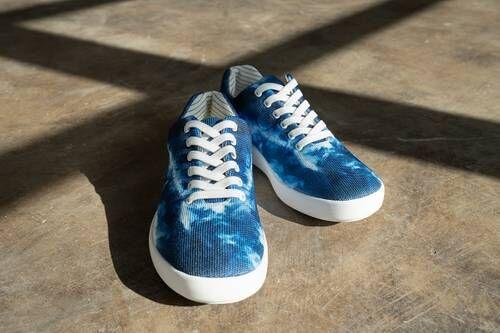 Patterned Blue Tonal Footwear