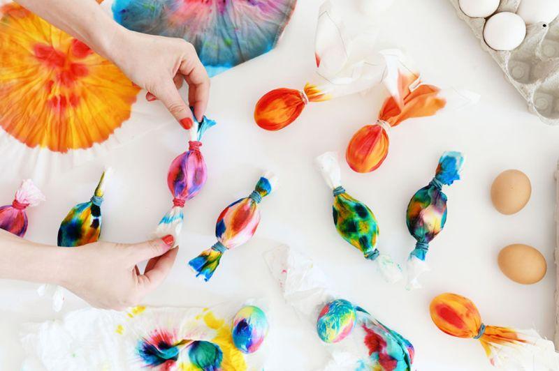 DIY Tie-Dye Eggs
