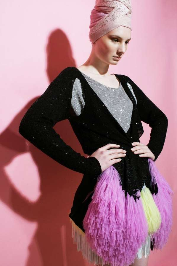 Sparkling Pom Pom Knitwear