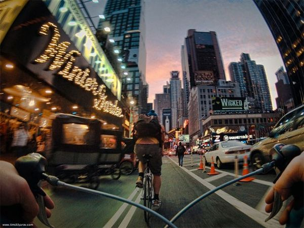 Cyclist-Perspective Photography