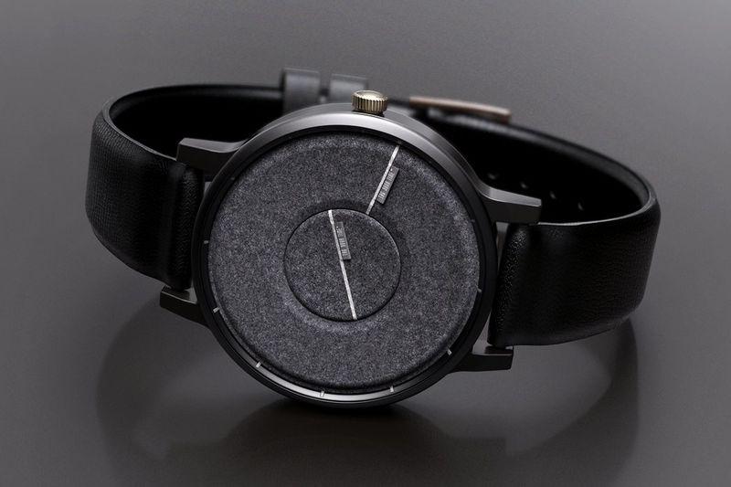 Discreet Texturized Timepieces