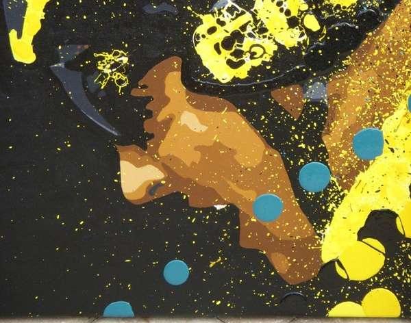 Splattered Sport Art