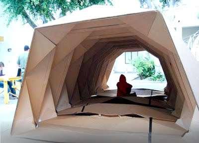 Cardboard Origami Shelters