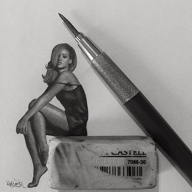 Tiny Celebrity Pencil Portraits