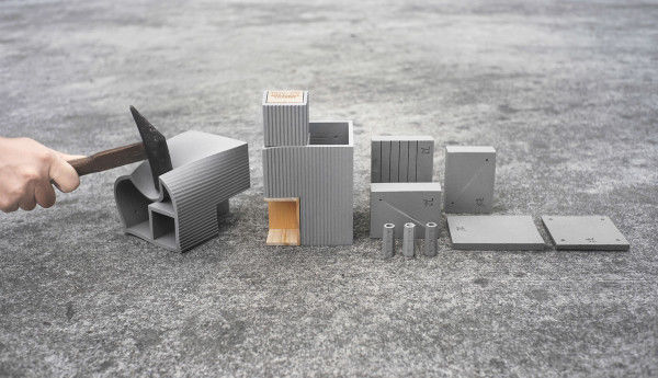 Concrete-Like Desk Accessories