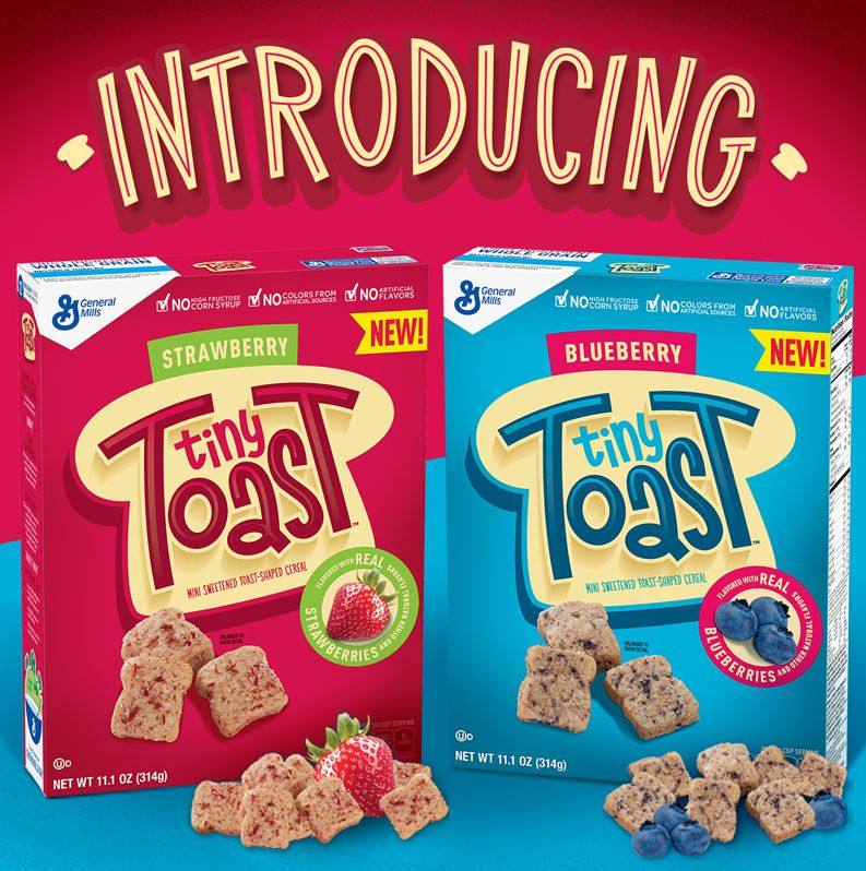 Toast-Shaped Breakfast Cereals