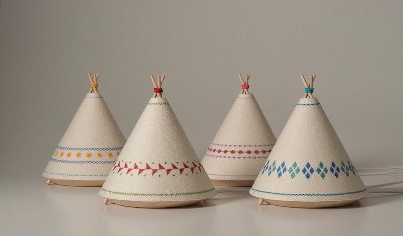 Cozy Tipi Lamps