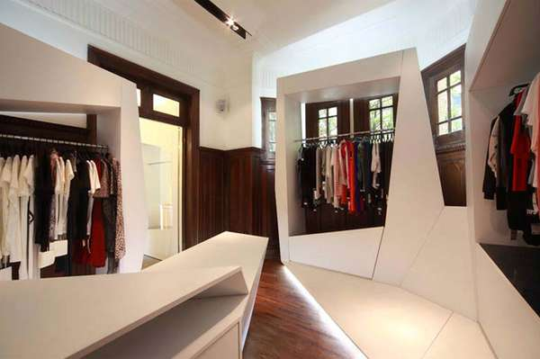 Superb Origami Pod Displays   Interior Of TIPS Fashion Store Is A Mix Of  Contemporary U0026 Classic Gallery