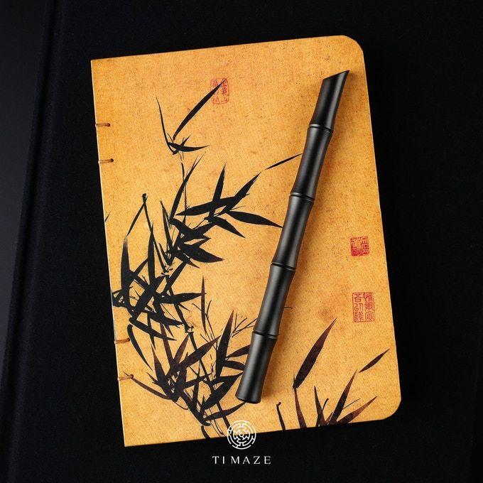Bamboo-Inspired Titanium Writing Utensils
