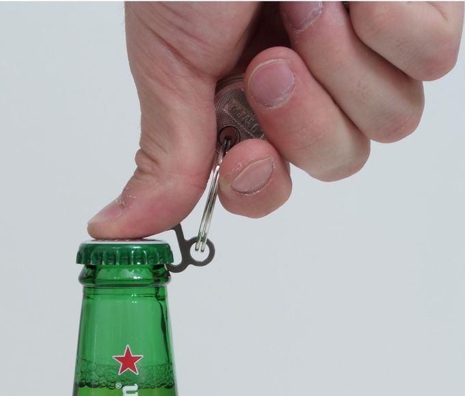 Minuscule Bottle-Popping Keychains