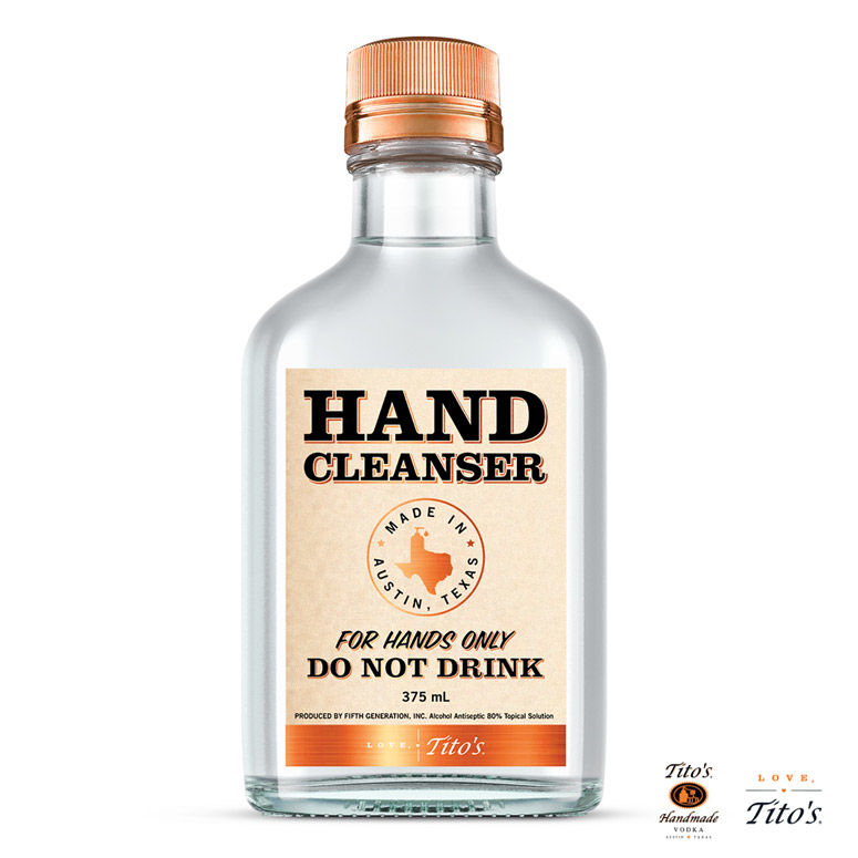 Vodka Brand Hand Sanitizers