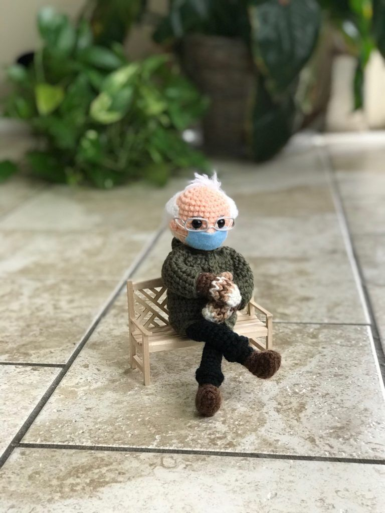 Inauguration-Themed Crochet Dolls