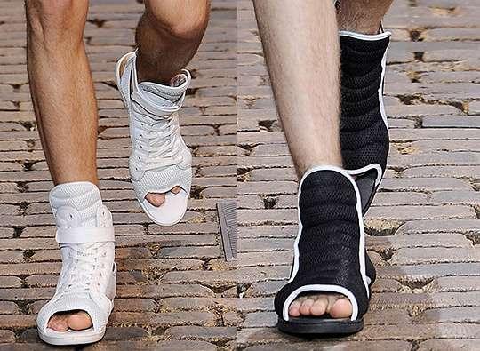 Hybrid Footwear: Toe-Less Sneakers by Kim Kiroic for ...
