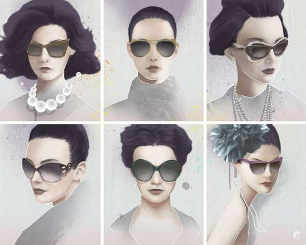 Shady Lady Illustrations