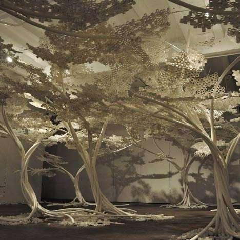 Tubular Sakura Tree Sculptures