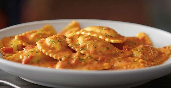 Tomato Cream Ravioli