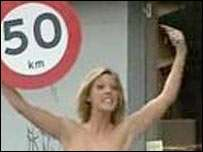 Topless Blondes in Danish Road Safety TV Ad Campaign