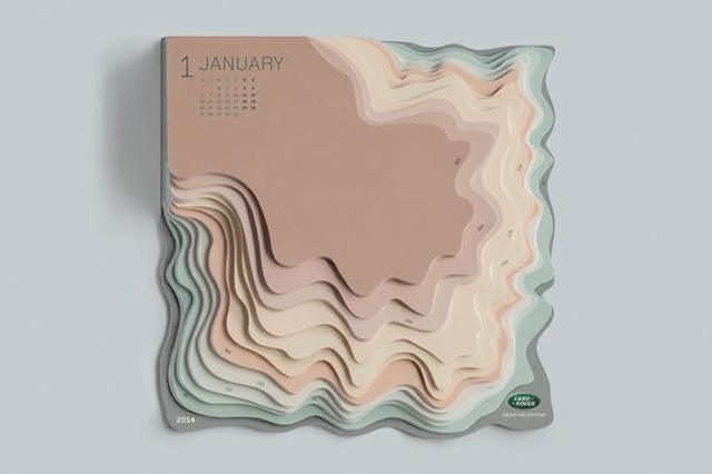 Sculptural Topographic Calendars