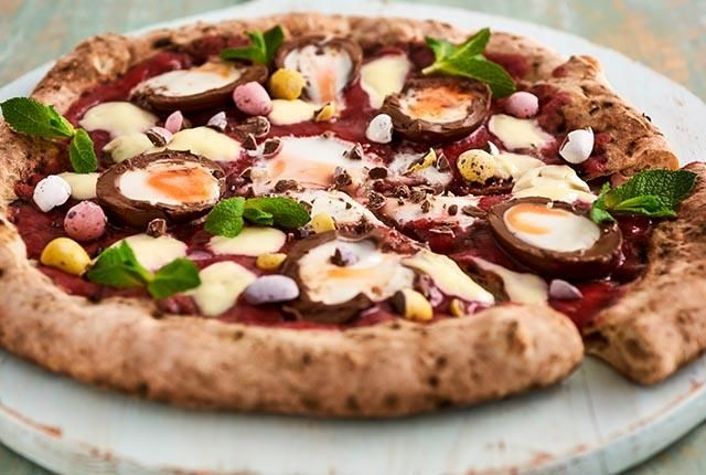 Easter Dessert-Topped Pizzas