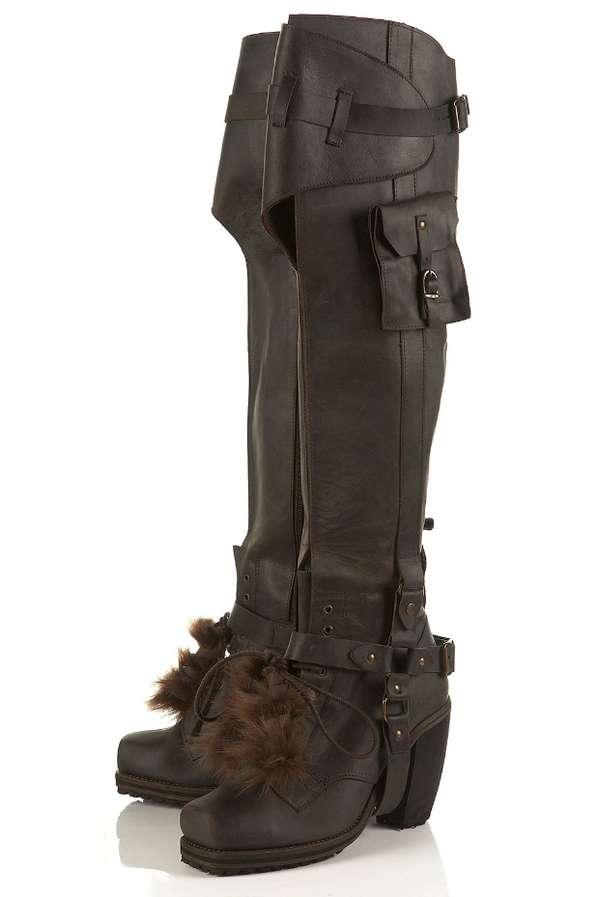 Cargo Combat Boots Topshop Unique Aw2010 Boots