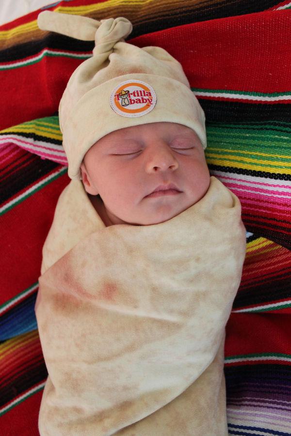 Burrito-Inspired Baby Blankets