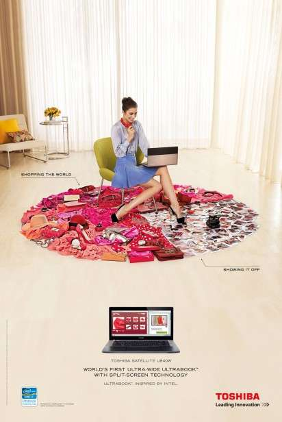 Pie-Chart Carpet Ads