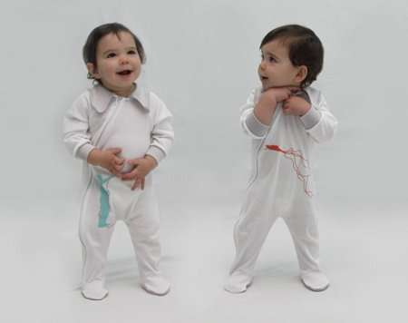Unmatched Twin Baby Outfits